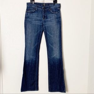 7 For All Mankind Medallion Pocket Bootcut 28